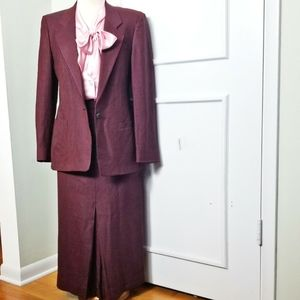 Vintage Austin Reed Houndstooth Skirt Suit